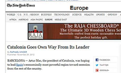 'The Guardian' y 'The New York Times' avisan a Rajoy de que sigue teniendo un problema con Catalunya
