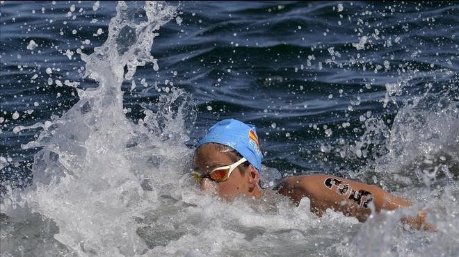 Erika Villa�cija, en la prueba de 10 km de Set�bal del pasado s�bado.