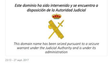 La CUP i Òmnium denuncien que la Guàrdia Civil ha tancat les seves webs a favor de l'1-O