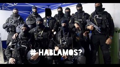 """Detingut per violència masclista el policia del tuit contra els independentistes """"¿Parlem?"""""""