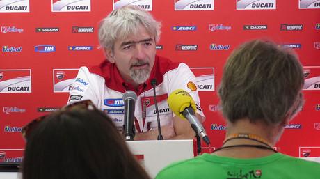 El ingeniero Luigi 'Gigi'�Dall'Igna, de Ducati, durante�la rueda de prensa