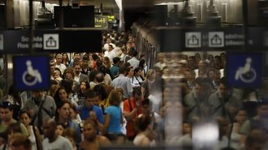 Un altre dilluns de vaga al metro