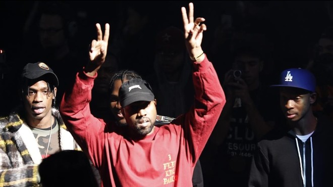 Kanye West, durante la presentaci�n de su disco y l�nea de ropa en el Madison Square Garden.