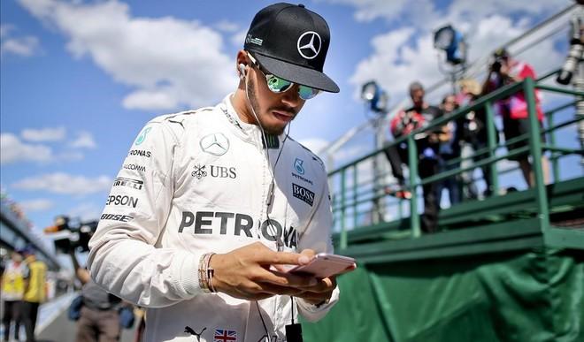 Lewis Hamilton, durante el gran premio de Melbourne