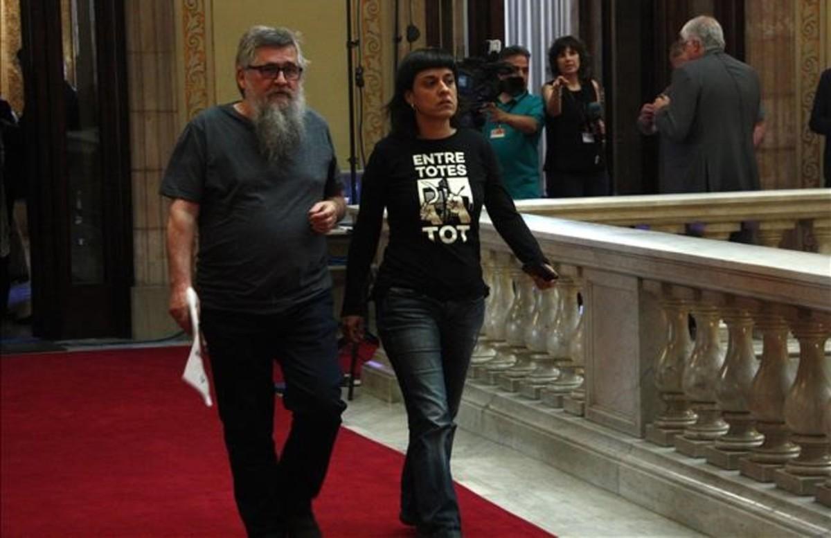 Anna Gabriel et Joan Garriga députés la Cup au parlement de Catalogne