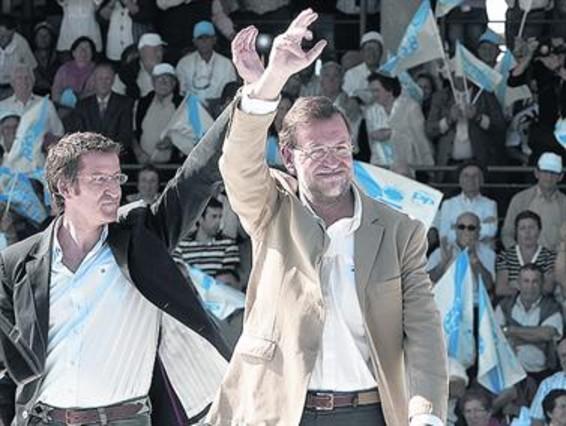 """Rajoy anima a Feij�o a tomar una decisi�n """"buena para �l y el partido"""""""