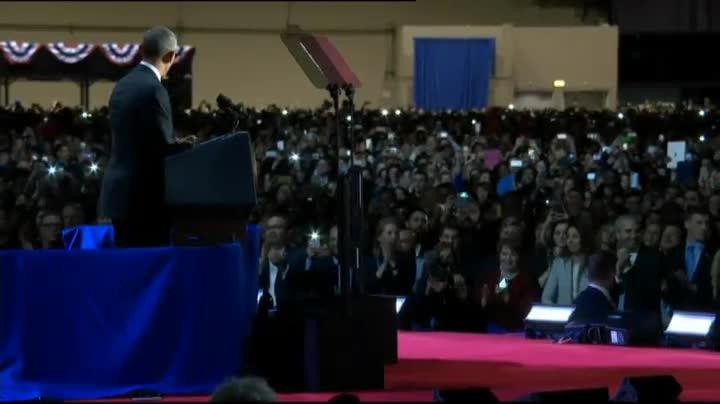 Obama acomiada la seva presidència amb un discurs a Chicago.