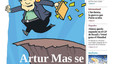 El batacazo de Mas brilla en todas las portadas