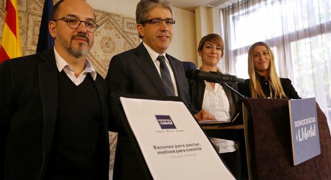 """Homs presenta a Madrid la independència catalana com a """"positiva"""" per a Espanya"""