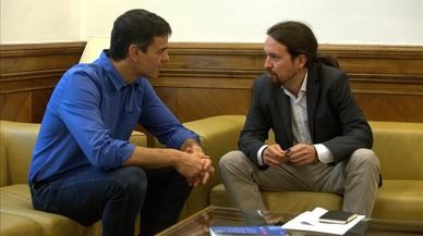 Segueix en directe la valoració de Podem i PSOE sobre la reunió d'Iglesias i Sánchez