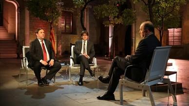 """Puigdemont: """"Solo convocaré elecciones si gana el 'no'"""""""