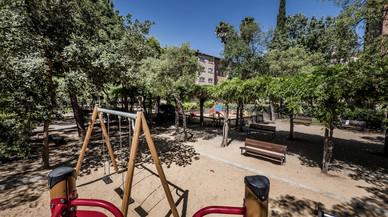 La zona de juegos infantiles de los Jardins de Massana.