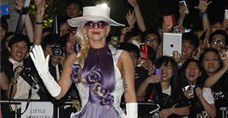 Lady Gaga, a su llegada a Hong Kong el pasado 28 de abril.