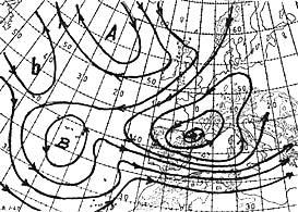 El mapa de isobaras del 26 de diciembre del 1962.
