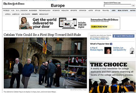 'The New York Times' y el referendo soberanista.