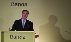 El director general de BFA-Bankia, José Sevilla, durant la presentació de resultats, aquest dijous a València.
