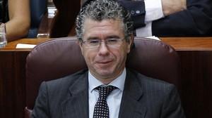 El ya exdiputado y exsenador Francisco Granados, en el pleno de la Asamblea de Madrid. ARCHIVO / EFE / BALLESTEROS
