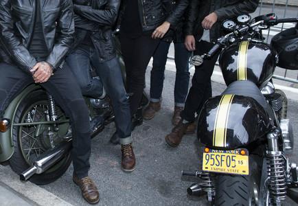 Las motos retro y la est�tica aparejada est�n de moda.