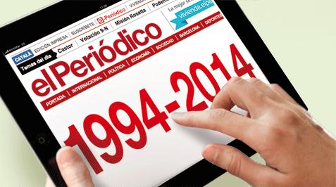 Cronologia dels 20 anys d'EL PERI�DICO 'on line'