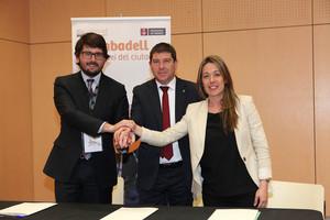 Sabadell, lHospitalet i Tarragona firmen un protocol dintencions per compartir experiències de projectes de smart cities.