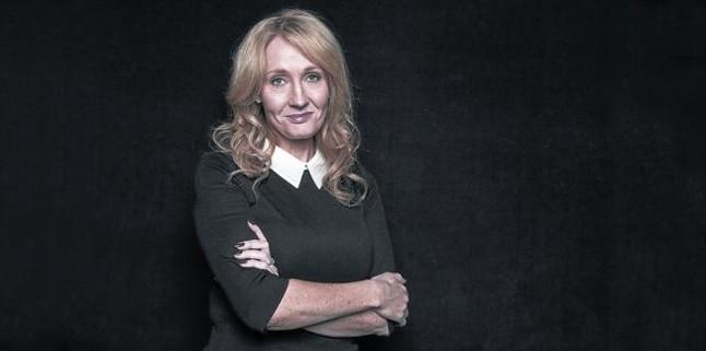 J. K. Rowling, en la presentación de una de sus novelas.