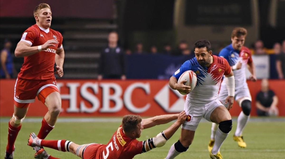 Partido de rugby entre Canada y Francia