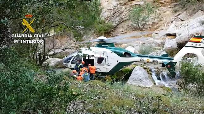 La Guàrdia Civil rescata un barranquista que va tenir un accident a Cazorla (Jaén)
