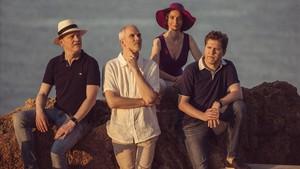 Abel Tomàs, Arnau Tomàs, Vera Martínez y Jonathan Brown, miembros del Quartet Casals.