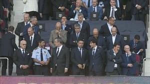 Imagen del palco del Camp Nou en el partido del Barça y el Betis.
