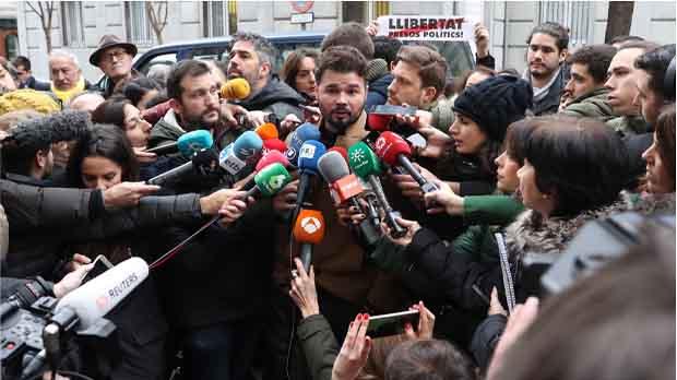 Rufián: Oriol Junqueras és el pla B si Puigdemont no pot tornar