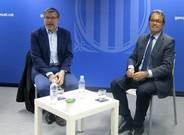 Artur Mas y el periodista francés Jean Quatremer, este martes en Bruselas.