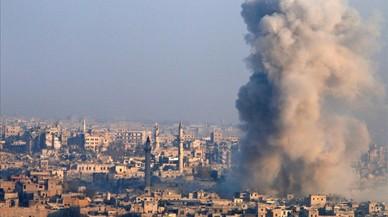 Bombardeo en la ciudad siria de Alepo.