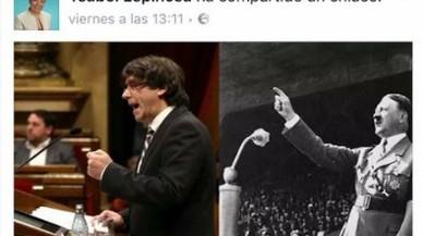 La presidenta del PP de Cornellà compara Puigdemont amb Hitler