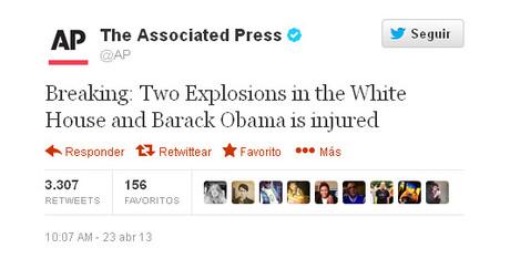 Un 'hacker' desata el p�nico al informar de dos explosiones que hieren a Obama