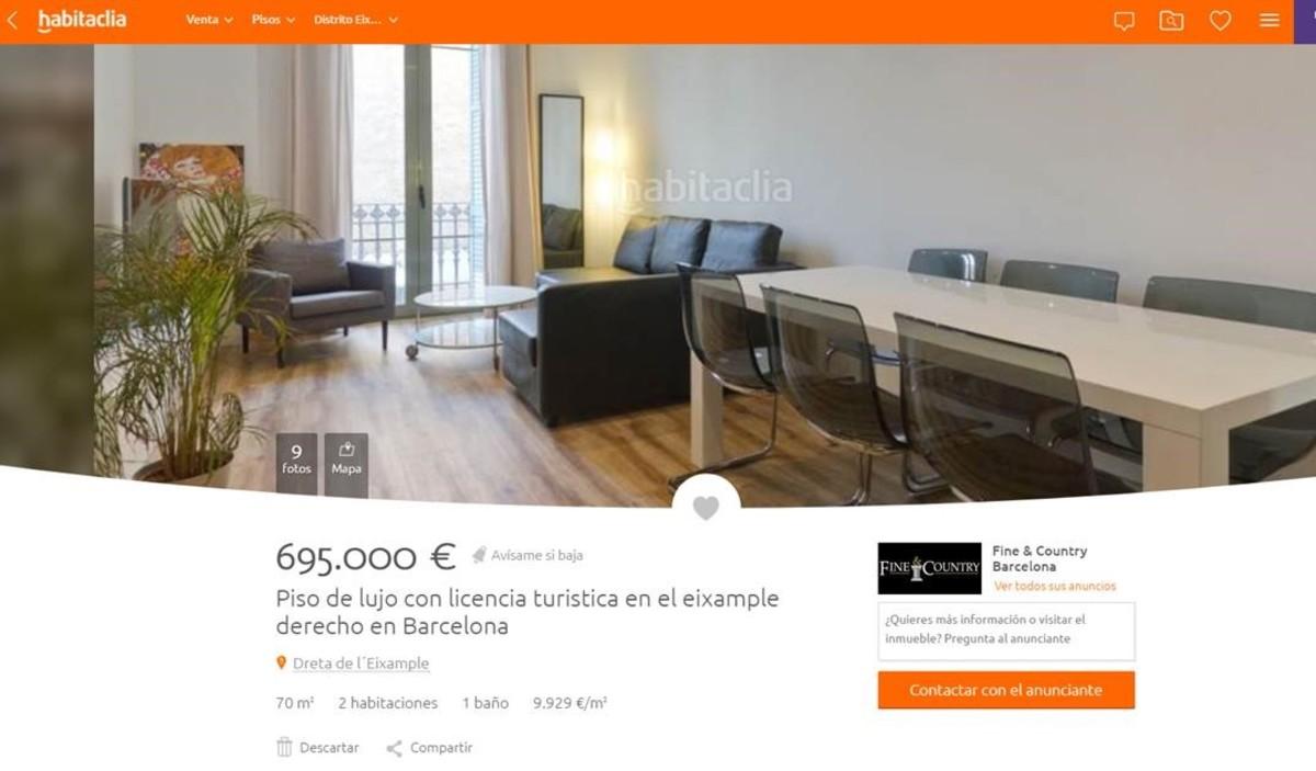 Los pisos con licencia tur stica pueden costar for Piso 80000 euros barcelona