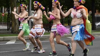 Imagen de la Carrera de la Diversidad por las calle de Madrid.