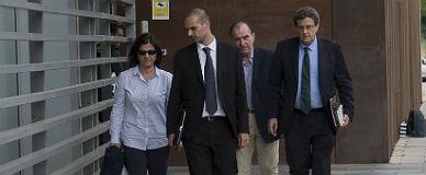 Joaquím y Susanna Sumarroca, tras quedar en libertad, este viernes.