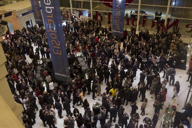Una imagen general de la cena que siguió a la entrega de los galardones, en el Teatre Nacional de Catalunya.