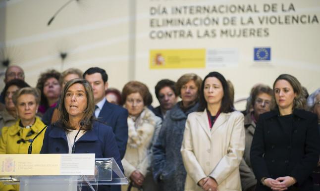 Ana Mato anuncia que las víctimas de maltrato están exentas de las tasas judiciales en casos de divorcio