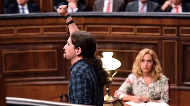 Iglesias llança un discurs d'esperança als defraudats per la tornada de Rajoy