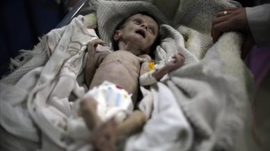 Niños en Siria; las cuatro fotos que ilustran una infancia de pesadilla