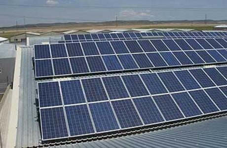 Planta fotovoltaica en un pol�gono industrial.