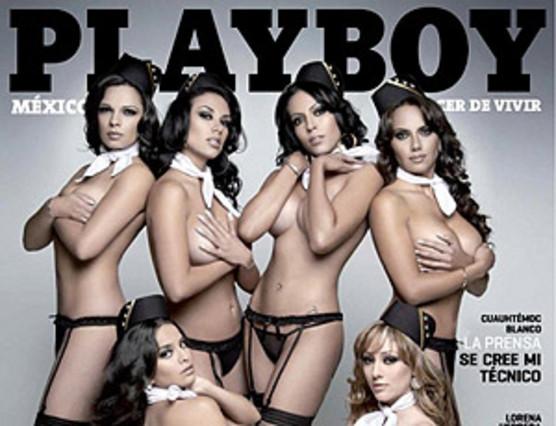 Azafatas mexicanas posan en las páginas de 'Playboy'