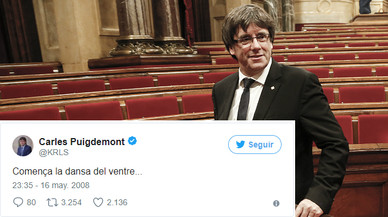 Els tuits antics de Puigdemont que van 'ressuscitar' el 10-O