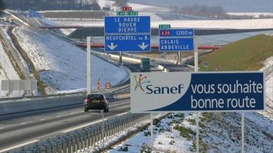 Tramo de una autopista controlada por Sanef en el norte de Francia.