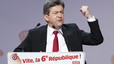 Jean-Luc Mlenchon, durante el mitin de final de campaa en Pars, el jueves.