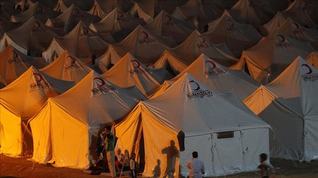 Campamento de refugiados sirios en Turqu�a