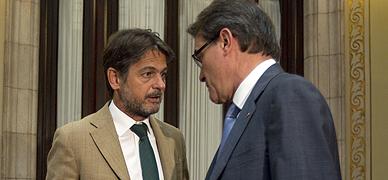 Oriol Pujol y Artur Mas, en julio del 2013.
