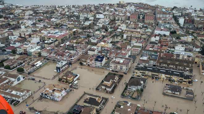 Les fortes pluges deixen un mort a Los Alcázares