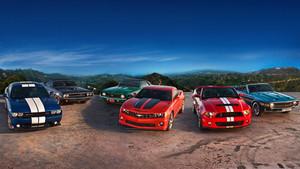 El Camaro y el Mustang son dos referentes del género Muscle car.